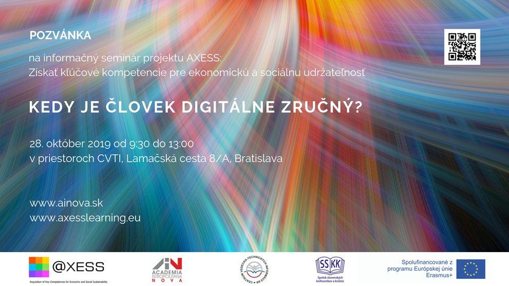 Informačný seminár: Kedy je človek digitálne zručný?